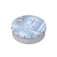 Boy First Holy Communion Blue Confirmation Favor Jelly Belly Tins at Zazzle