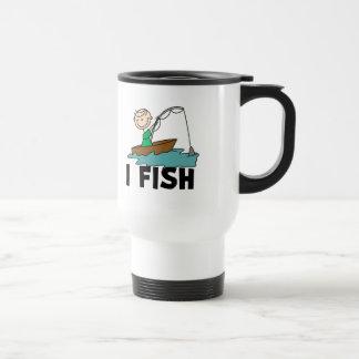 Boy Fishing In Boat Mug