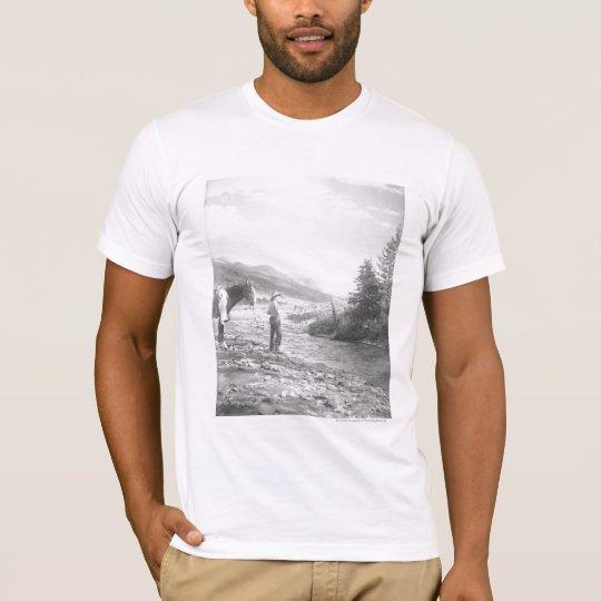 Boy fly fishing. T-Shirt