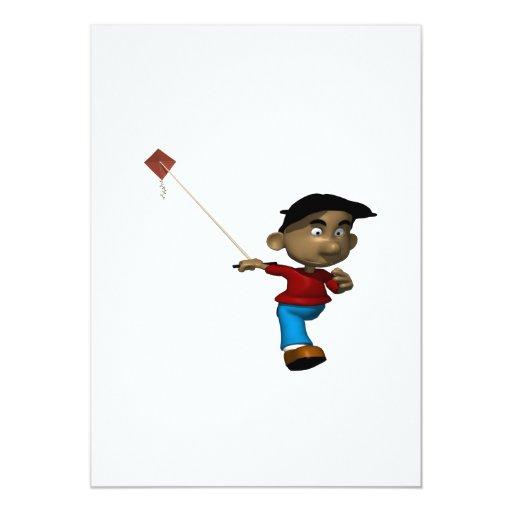 Boy Flying Kite Invite