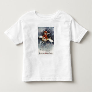 Boy Flying Make-Shift Airplane Toddler T-shirt