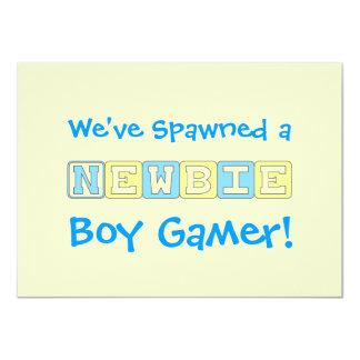Boy Gamer Baby Shower Card