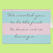 Boy gender reveal card