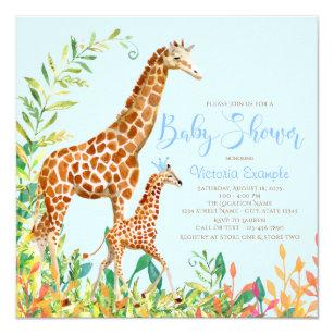 Giraffe baby shower invitations zazzle boy giraffe baby shower invitations filmwisefo
