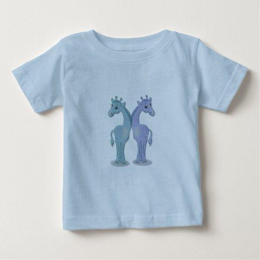 Boy Giraffe Twins Tee Shirts