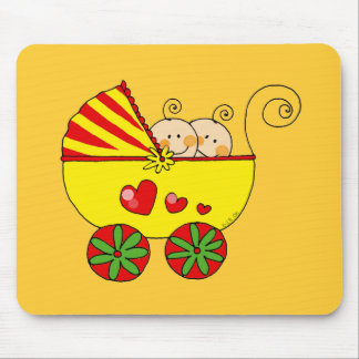 Boy & Girl baby twins Mouse Pad