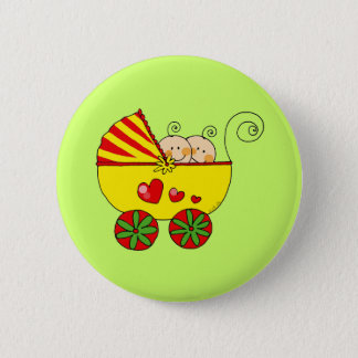 Boy & Girl baby twins Pinback Button