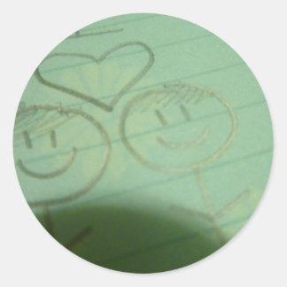 Boy+Girl Classic Round Sticker