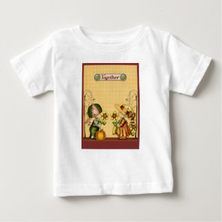 Boy Girl Country Prim Sunflower Pumpkin Gold Green Baby T-Shirt