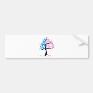 Boy Girl Hearts Tree Bumper Sticker
