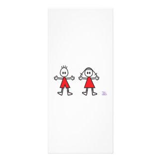 Boy & Girl in Red Rack Card