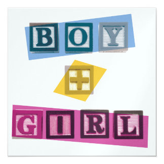 Boy + Girl Invitation/Save the Date Card