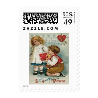 Boy Girl Knee Heart Wishbone Bouquet Postage