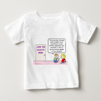 boy girl scouts join great resume tee shirt