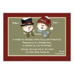 Boy & Girl Snowman - Birthday Party  Invitation