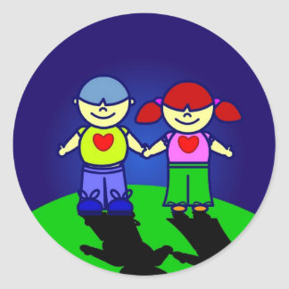 BOY & GIRL Sticker