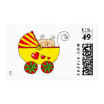 Boy & Girl twin babies Postage Stamps