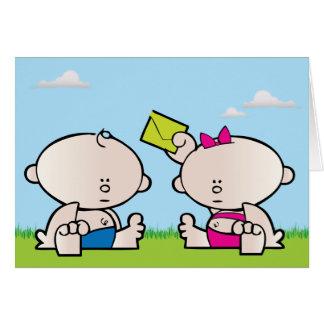 Boy Girl Twin Birthday Greeting Card