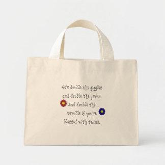 Boy , Girl Twin Giggles Mini Tote Bag