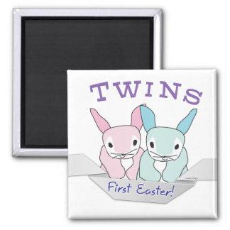 Boy Girl Twins 1st Easter Magnet