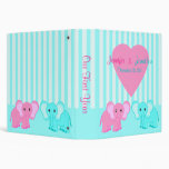 Boy/Girl Twins Baby Elephants Photo Binder