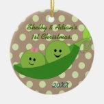 Boy Girl Twins First Christmas Ornament