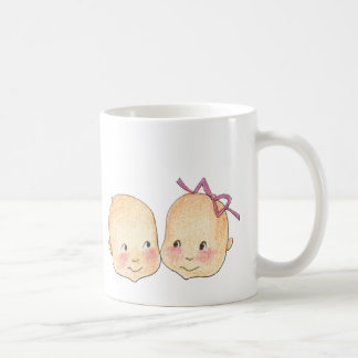 Boy Girl Twins Graphic Coffee Mug