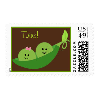 Boy Girl Twins In A Pea Pod Postage