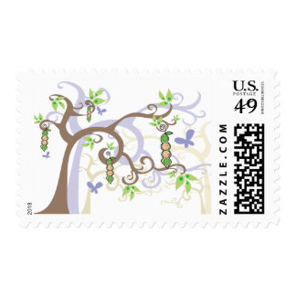 Boy Girl Twins Peas In A Pod Baby Shower Stamps