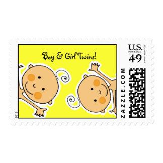 Boy & Girl Twins! Postage