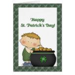 Boy Gold St. Patricks Day Greeting Cards