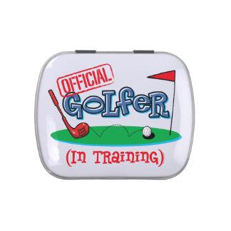 Boy Golfer In Training Jelly Belly Tin