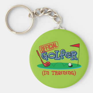 Boy Golfer In Training Keychain