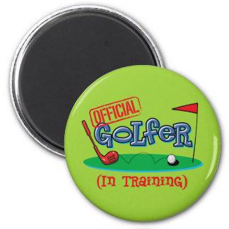 Boy Golfer In Training Refrigerator Magnet