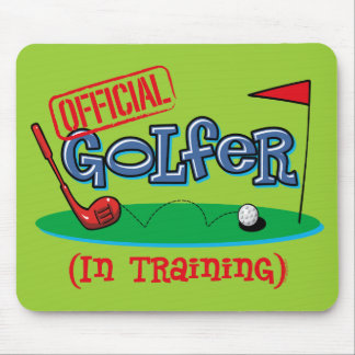Boy Golfer In Training Mouse Pad