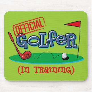 Boy Golfer In Training Mousepads