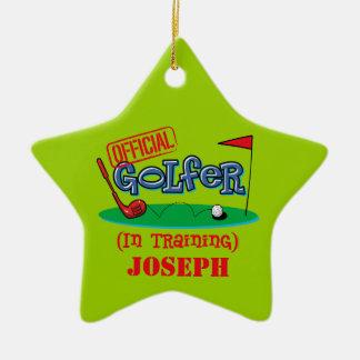 Boy Golfer In Training Personalized Ornament