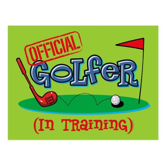 Boy Golfer In Training Postcard