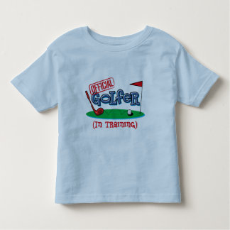 Boy Golfer In Training Toddler T-shirt