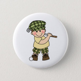 Boy Golfer Pinback Button