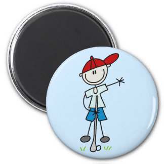Boy Golfer Tshirts and Gifts Magnets