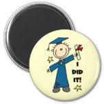 Boy Graduate 2 Inch Round Magnet