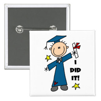 Boy Graduate Pinback Button