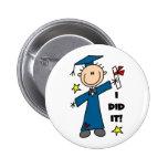 Boy Graduate Pinback Buttons