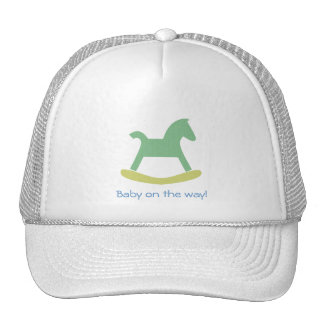 Boy Green and Yellow Rocking Horse Cap Trucker Hat