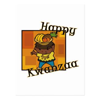 Boy Happy Kwanzaa Postcard