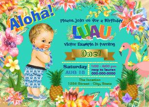 luau party invitations zazzle