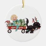 Boy & His Dog Christmas Ornament - Customizable