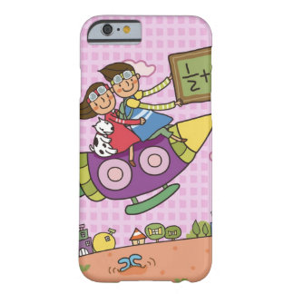 Boy holding a blackboard sitting with a girl on barely there iPhone 6 case