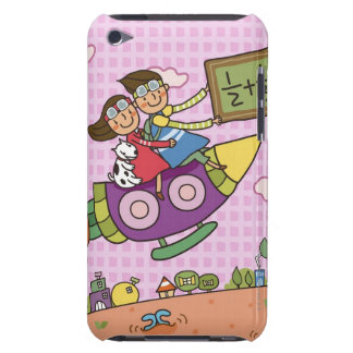 Boy holding a blackboard sitting with a girl on iPod Case-Mate case